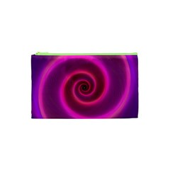 Pink Background Neon Neon Light Cosmetic Bag (xs) by Nexatart