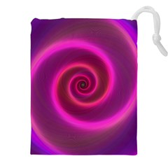 Pink Background Neon Neon Light Drawstring Pouches (xxl)