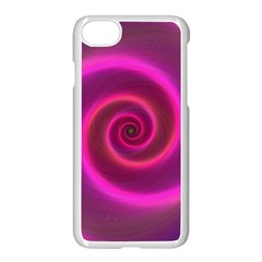 Pink Background Neon Neon Light Apple Iphone 7 Seamless Case (white) by Nexatart