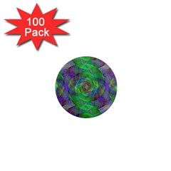 Fractal Spiral Swirl Pattern 1  Mini Magnets (100 Pack)