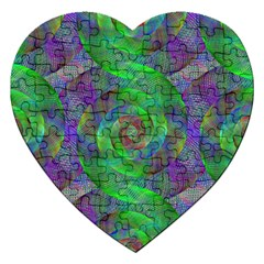 Fractal Spiral Swirl Pattern Jigsaw Puzzle (heart) by Nexatart