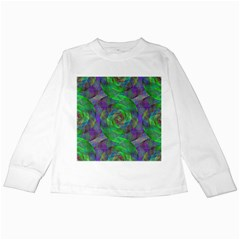 Fractal Spiral Swirl Pattern Kids Long Sleeve T Shirts