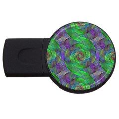 Fractal Spiral Swirl Pattern Usb Flash Drive Round (4 Gb)
