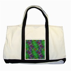 Fractal Spiral Swirl Pattern Two Tone Tote Bag