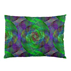 Fractal Spiral Swirl Pattern Pillow Case by Nexatart