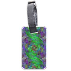 Fractal Spiral Swirl Pattern Luggage Tags (one Side)
