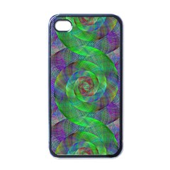 Fractal Spiral Swirl Pattern Apple Iphone 4 Case (black) by Nexatart