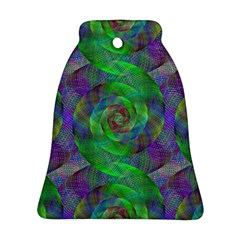Fractal Spiral Swirl Pattern Bell Ornament (two Sides)