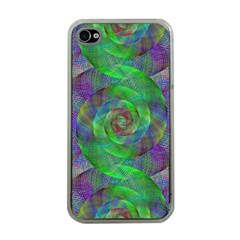 Fractal Spiral Swirl Pattern Apple Iphone 4 Case (clear)