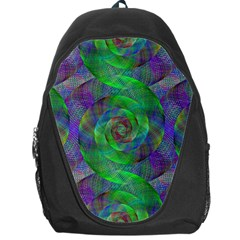 Fractal Spiral Swirl Pattern Backpack Bag by Nexatart