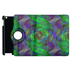 Fractal Spiral Swirl Pattern Apple Ipad 2 Flip 360 Case by Nexatart