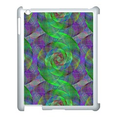 Fractal Spiral Swirl Pattern Apple Ipad 3/4 Case (white)