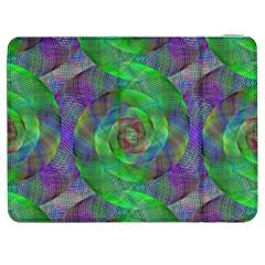 Fractal Spiral Swirl Pattern Samsung Galaxy Tab 7  P1000 Flip Case by Nexatart