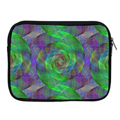 Fractal Spiral Swirl Pattern Apple Ipad 2/3/4 Zipper Cases by Nexatart