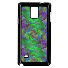 Fractal Spiral Swirl Pattern Samsung Galaxy Note 4 Case (black) by Nexatart
