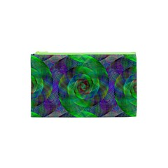Fractal Spiral Swirl Pattern Cosmetic Bag (xs) by Nexatart