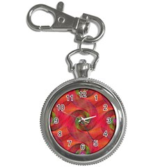 Red Spiral Swirl Pattern Seamless Key Chain Watches