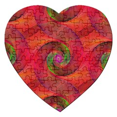 Red Spiral Swirl Pattern Seamless Jigsaw Puzzle (heart)