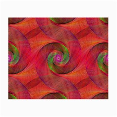 Red Spiral Swirl Pattern Seamless Small Glasses Cloth (2 Side)