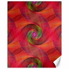 Red Spiral Swirl Pattern Seamless Canvas 11  X 14