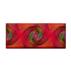 Red Spiral Swirl Pattern Seamless Cosmetic Storage Cases