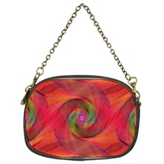 Red Spiral Swirl Pattern Seamless Chain Purses (one Side)  by Nexatart
