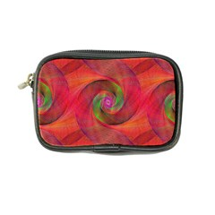 Red Spiral Swirl Pattern Seamless Coin Purse by Nexatart