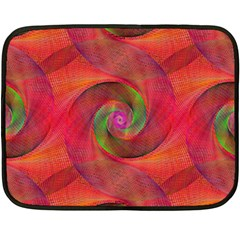 Red Spiral Swirl Pattern Seamless Double Sided Fleece Blanket (mini)  by Nexatart