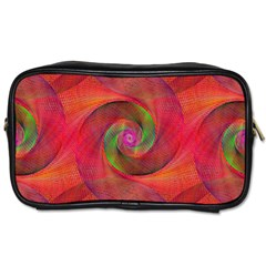 Red Spiral Swirl Pattern Seamless Toiletries Bags