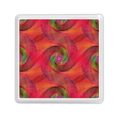 Red Spiral Swirl Pattern Seamless Memory Card Reader (square)