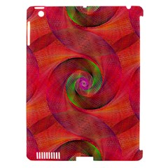 Red Spiral Swirl Pattern Seamless Apple Ipad 3/4 Hardshell Case (compatible With Smart Cover) by Nexatart
