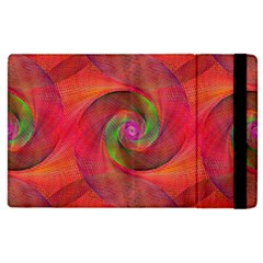 Red Spiral Swirl Pattern Seamless Apple Ipad 3/4 Flip Case by Nexatart
