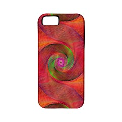 Red Spiral Swirl Pattern Seamless Apple Iphone 5 Classic Hardshell Case (pc+silicone) by Nexatart