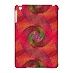 Red Spiral Swirl Pattern Seamless Apple Ipad Mini Hardshell Case (compatible With Smart Cover) by Nexatart