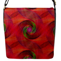 Red Spiral Swirl Pattern Seamless Flap Messenger Bag (s)
