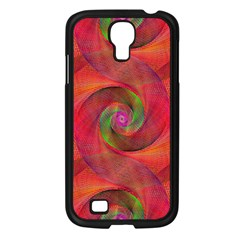 Red Spiral Swirl Pattern Seamless Samsung Galaxy S4 I9500/ I9505 Case (black) by Nexatart