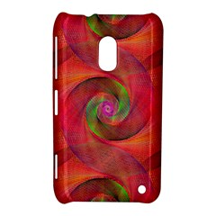 Red Spiral Swirl Pattern Seamless Nokia Lumia 620 by Nexatart