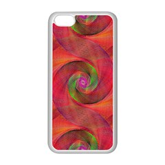 Red Spiral Swirl Pattern Seamless Apple Iphone 5c Seamless Case (white)