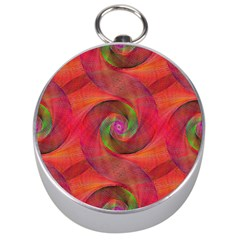 Red Spiral Swirl Pattern Seamless Silver Compasses by Nexatart