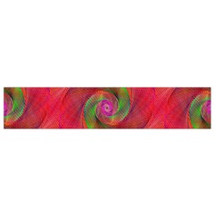 Red Spiral Swirl Pattern Seamless Flano Scarf (small)