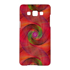 Red Spiral Swirl Pattern Seamless Samsung Galaxy A5 Hardshell Case  by Nexatart