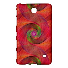 Red Spiral Swirl Pattern Seamless Samsung Galaxy Tab 4 (7 ) Hardshell Case  by Nexatart