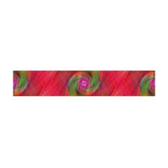 Red Spiral Swirl Pattern Seamless Flano Scarf (mini) by Nexatart
