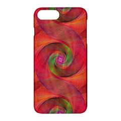 Red Spiral Swirl Pattern Seamless Apple Iphone 7 Plus Hardshell Case