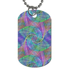Spiral Pattern Swirl Pattern Dog Tag (one Side)