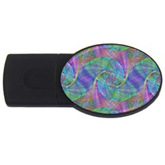 Spiral Pattern Swirl Pattern Usb Flash Drive Oval (2 Gb) by Nexatart