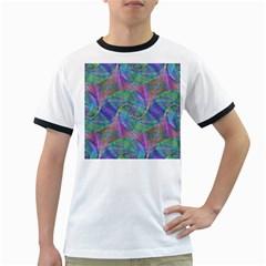 Spiral Pattern Swirl Pattern Ringer T-Shirts