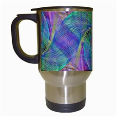 Spiral Pattern Swirl Pattern Travel Mugs (white)