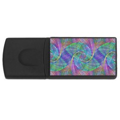 Spiral Pattern Swirl Pattern Rectangular Usb Flash Drive by Nexatart