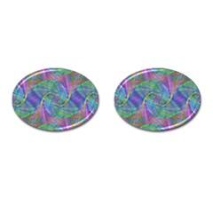 Spiral Pattern Swirl Pattern Cufflinks (Oval)